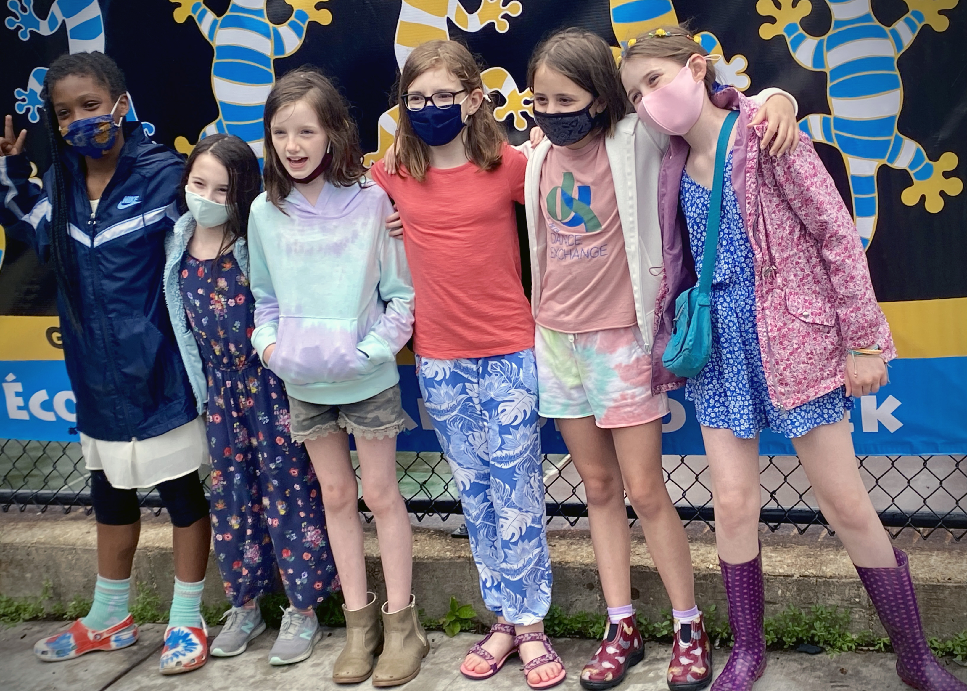 Group of 5th Grade Girls at celebration