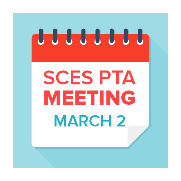 Image of calendar with March 3 PTA Meeting text on it
